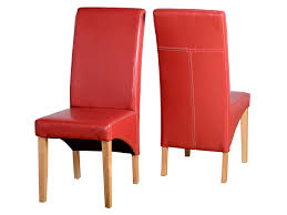 dining table and 6 red leather chairs. seconique belgravia g1 set of 2 red faux leather dining chairs table and 6
