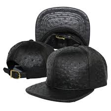 china ostrich faux leather strapback baseball cap china snap back cap leather cap