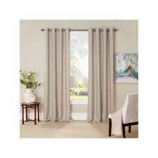 eclipse newport thermalayer blackout window curtain white