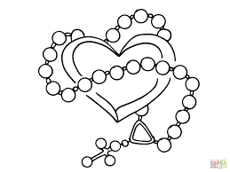 Small Picture 11 Pics Of Rosary Coloring Pages Rosary Beads Coloring Page