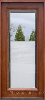 exterior doors with glass and blinds. full lite doors with shades between glass exterior and blinds 0