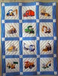 Boys Construction Baby Quilt & Boys Construction Baby Quilt . Adamdwight.com