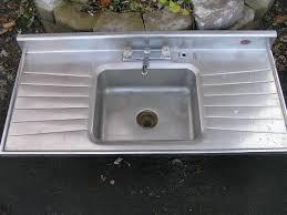 wonderful single bowl stainless steel kitchen sink with drainboard sold antique kitchen sinks