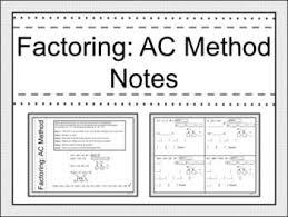 Ac Method Ac Factoring Under Fontanacountryinn Com