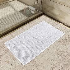 lifewit 32 x20 bath mat non slip microfiber gy chenille bath rugs bathroom shower