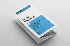 Fold Flyer Tri Fold Flyer Mockups Mockupworld