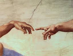 painting hands of and adam detail from the creation of adam