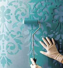 large wall stencils for painting45 Insanely Clever Ways to Decorate on a Budget  Stenciling