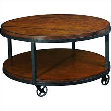 ... Coffee Table, Appealing Brown Minimalist Wood Round Coffee Table With  Storage On Wheels Design Ideas ...