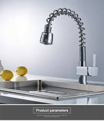 Rovate Kitchen Sink Taps Spring Pull Out Spout 2 Kind Outlet Water