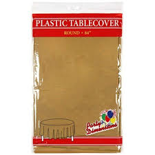 clear plastic table cover decor idea with astonishing com gold round plastic tablecloth 4 pack