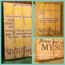 you are my sunshine wood sign if