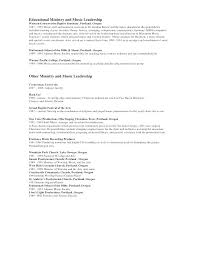 Youth Ministry Resume Examples Pastoral Resume Examples Youth