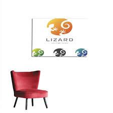 Lizard Logo Design Amazon Com Homehot Painting Post Circle Lizard Icon Logo