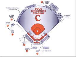 Clemson Tigers Stadium Seating Chart Baseball Seating Chart Tigernet