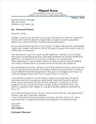 Fitness Cover Letters Personal Trainer Cover Letter Sample