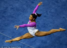 floor gymnastics olympics. Legend: Team USA Gymnast Simone Biles, 19, Performed A Mind-boggling Floor Gymnastics Olympics