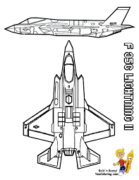 10 F35 Lighting Airplane At Coloring