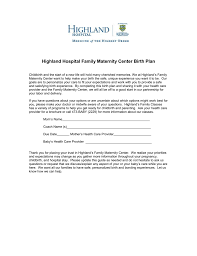 How To Make Your Birth Plan Highland Hospital Family Maternity Center Birth Plan