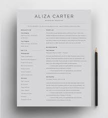Best Modern Clean Resume Design Creative Resume Template Minimalist Resume Resume Design