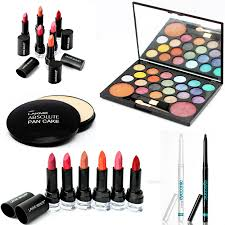 6 lakme absolute lipsticks with 4 cosmetics for her lakme absolute gloss addict lipstick lakme absolute bridal dream team collection bridal makeup kit