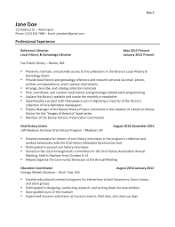 Librarian Resume Skills Resume For Study