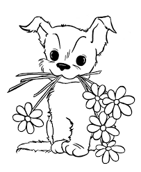Small Picture Cute Puppy Coloring Book Coloring Pages