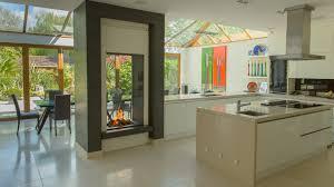 indoor outdoor frameless bespoke fireplace