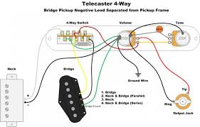 Four Way Switch Wiring Diagram Telecaster Telecaster 4-Way Wiring Drawings