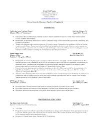 Military Resume Examples Resume Template Sample