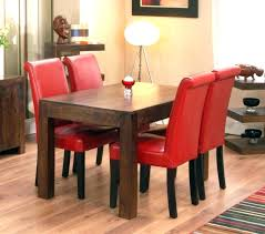 red dining table red leather dining room chair