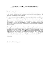 Recommendation Letter Sample For Job Crna Cover Letter