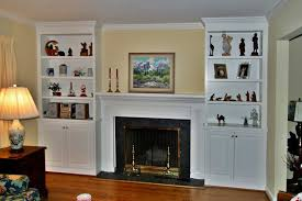 fireplace mantels with white bookshelves decorating ideas