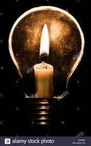 Candle Light Illusion A Candle Inside A Light Bulb Stock Photo 77288611 Alamy