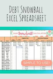 Snowball Calculator Excel Credit Card Payoff Calculator Paying Off Credit Cards