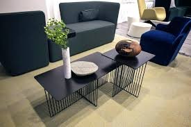 coffee table with fridge smart living rooms trendy side tables in black can also double as