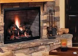 gas starter fireplace converting a wood