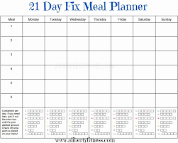 018 Free Meal Planner Template Download Monthly Plan