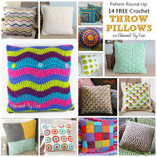 Free Crochet Pillow Patterns Delectable Crochet Pattern RoundUp 48 Free Crochet Throw Pillows Charmed By Ewe