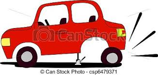 flat tires clipart. Modren Flat Red Car With Flat Tire Waits Assistance From Anyone Who Would Like To Help Intended Flat Tires Clipart O