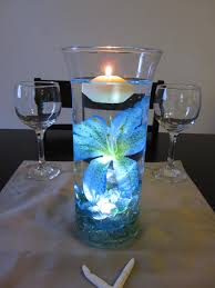Led Lights For Centerpieces Wedding Centerpieces With Blue Submersible Led Lights From