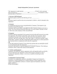 538 sample contract templates you can view, download and print for free. 50 Free Independent Contractor Agreement Forms Templates