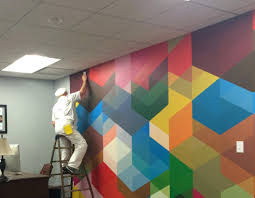 wall murals office. Accentwall Home Office Wall Decals Corporate Murals Uk