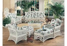 5 piece victorian natural wicker furniture