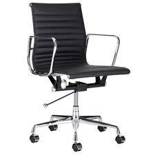 office leather chair. Eames Leather Replica Management Office Chair I