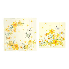 Spring Flower Paper Napkins Table Napkins Flowers Of Spring Paper Napkins Daffodils