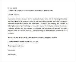 Letter To Business Template Sample Business Proposal Letter To Download Sponsorships