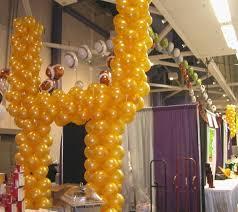 Sports Themed Balloon Decor Balloon Decor Of Central California Trade Shows