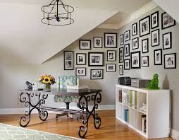 home office arrangements. Modren Arrangements View In Gallery Family Photos And A Beautiful Desk Shape This Corner Home  Office From Emily Followill On Home Office Arrangements G