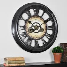 firstime 24 in round gear works wall clock